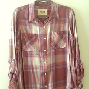 Mission Pink and Cream flannel